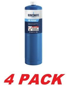 Worthington Bernzomatic Blue Propane Cylinder Torch Tank Fuel Canister 4 Pack