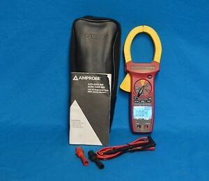Amprobe Acdc 3400 Ind Backlit Cat Iv Industrial Clamp Meter W pouch