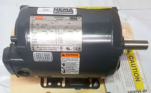 New Dayton 2nky2a 2 Hp 3 phase 1745 Voltage 208 230 460 Industrial Motor