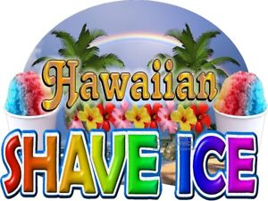 Hawaiian Shave Ice Fun Window Wall Decal choose A Size Stands Boardwalk Shops