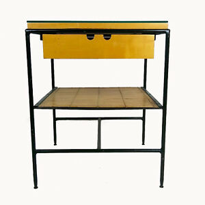 Mid Century Modern Paul Mccobb Wrought Iron Side Table Night Stand Planner Group