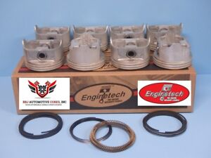 8 Gm Chevy Chevrolet 454 7 4l Bbc Flat Top Pistons And Rings 1970 1983