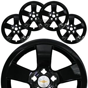 4 For Chevrolet Cruze Lt 2011 15 Black 16 Wheel Skins Hub Caps Full Rim Covers