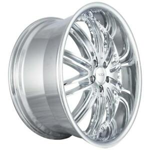 22x9 5x110 Xix X23 Chrome Saturn Pontiac Chevy Low Offset