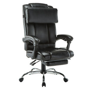 Ergonomic Executive Racing Style Bucket Office Chair Swivel Task Pu Leather