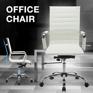 Executive Racing Car Style Office Chair Seat Computer Chair With Footrest Rocker