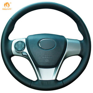 Leather Steering Wheel Cover Wrap For Toyota Camry 2012 Venza 2013 ft09