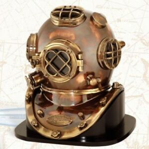 Brass Sea Marine Scuba Diving Divers Helmet Us Navy Mark V Solid Brass 18 Decor
