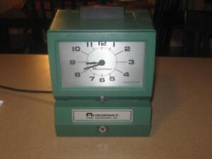 Acroprint Time Recorder Punch Clock Work Office Job Site 125ar3