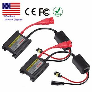 2pcs Xenon Hid Replacement Dc Digital Ballast Ultra Slim All Bulbs Fit 12v 35w