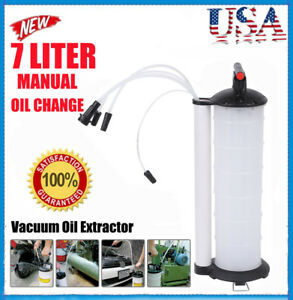 Oil Fluid Extractor 7l Manual Vacuum Fuel Petrol Pump Transfer Syphon Suction Ek