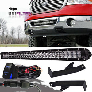 For 2006 2008 Ford F150 20 Off road Combo Led Light Bar Hidden Bumper Bracket