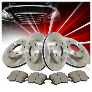 Front rear Brake Rotors Ceramic Pads 6pcs For Ford Expedition 2003 2004