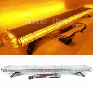 55 Strobe Light Bar Led Amber Warning Emergency Beacon Tow plow Wrecker Trucks