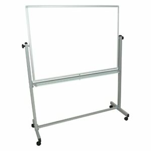 Luxor Large Double sided Magnetic Board White 46w X 1d X 36h Inches
