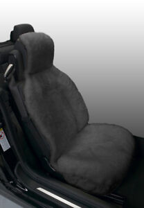 Eurow Genuine Australian Sheepskin Sideless Seat Cover Gray