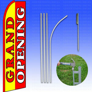 Feather Flag Swooper Advertising Flag Banner Sign 15 Tall Kit Grand Opening Y