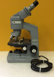 American Optical ao One fifty Binocular Microscope Complete Accy s Tested