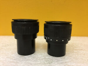 Leica 10446329 1044632c set Of 2 10 X 23 30mm Microscope Eyepieces Tested