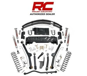 1984 01 Jeep Xj Cherokee 4wd 4 5 Rough Country Long Arm Lift Kit Np242 61722