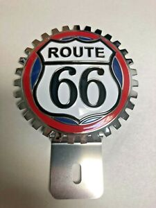 New Vintage Route 66 License Plate Topper Chromed Brass Great Gift Item