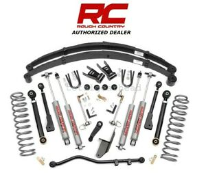 1984 2001 Jeep Xj Cherokee 4wd 6 5 Rough Country X Series Lift Kit N3 69620