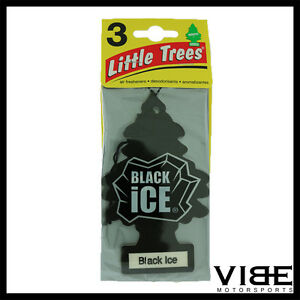 Little Trees Car Home Office Hanging Air Freshener Black Ice Pack Of 3