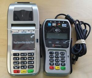 New First Data Fd130 Terminal With Smart Card emv And Fd35 Pin Pad W wells 350