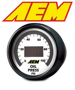 Aem Electronics Digital Oil Fuel 0 100 Psi Pressure Gauge 30 4401