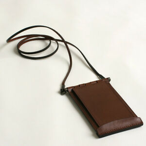 M Emupiu Cardine Vertical Id Card Holder With Flap Brown Fs From Japan