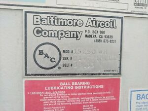 Baltimore Air Coil Company 250 Ton Cooling Tower