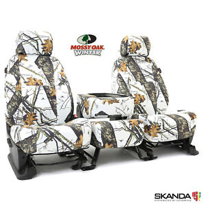 Coverking Mossy Oak Winter Camo Front Rear Seat Covers For Chevy Colorado