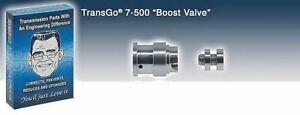 Transgo Hi Performance Boost Valve Kit Th 700 R4 200 4r 7 500 500