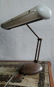 Mid Century Modern Industrial 16 Florescent Swing Arm Desk Lamp