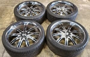 22x9 Dcenti Dw8 5x114 3 5x120 Wheels Tires Baller Chrome Donk Lowrider 22s 22