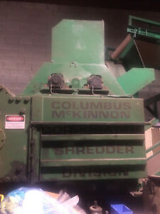Columbus Mckinnon 250 Tire Shredder With Classifier And Conveyor Belts Complete