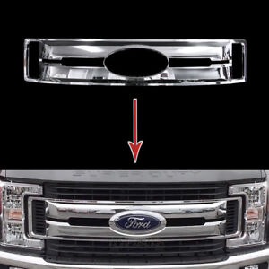 2017 2019 Ford F250 F350 F450 Xl Chrome Snap On Grille Overlay Full Grill Covers