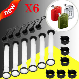 6x Replacement Spout Parts Kit For Rubbermaid Kolpin Gott Jerry Can Fuel Gas