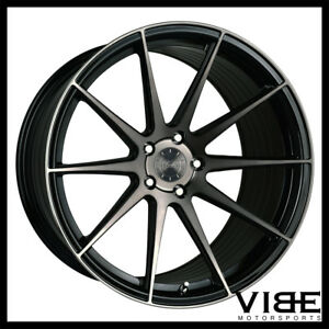 19 Vertini Rf1 3 Black Forged Concave Wheels Rims Fits Tesla Model S