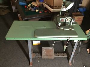 Rex Blind Stitch Industrial Sewing Machine 618 9 With Table Motor