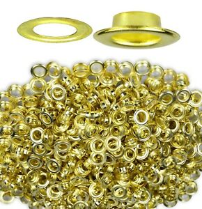 0 1 4 Brass Metal Grommets W washers 500 Pcs