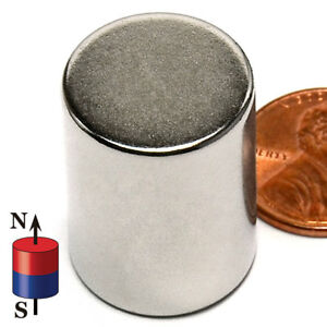 3 4 in X 1 inch Rare Earth Neodymium Cylinder Magnet Strong N42 25mm 20mm 1in