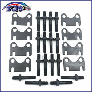 New Sbc Small Block Chevy Push Rod Guide Plates And 3 8 Rocker Arm Studs Kit