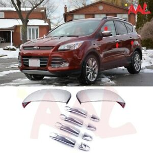 Aal For Ford Focus escape 13 16 Chrome Mirror Cover Door Handle Cover W o Pskh