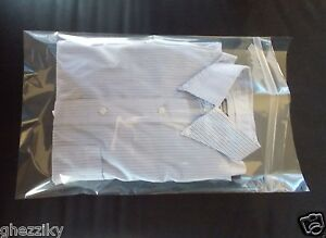 11 X 17 Clear Poly Dress Shirt Resealable Plastic Bags 2 Flap 25 50 100 200