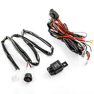 Universal Wiring Kit Led Fog Light Driving Lamp Wiring Harness Fuse Switch Relay