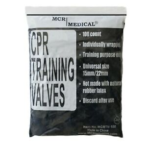 100 Pack Cpr Training Valves For Pocket Rescue Mask Training With Cpr Manikins