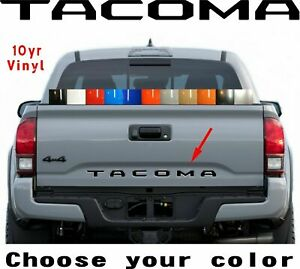 2016 2017 2018 2019 2020 Toyota Tacoma Vinyl Tailgate Letters Decal