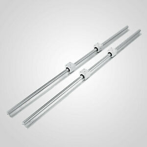 2 Set Sbr20 1200mm 20 Mm Fully Supported Linear Rail Shaft Rod With 4 Sbr20uu