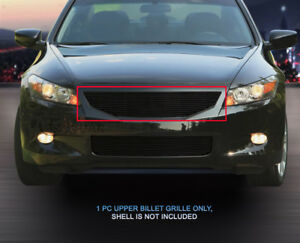 Black Billet Grille Grill Upper Fits 2008 2009 2010 Honda Accord Coupe